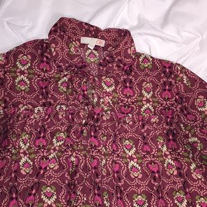 Gianni Bini Boho Bell Sleeved Blouse Sz S   G8